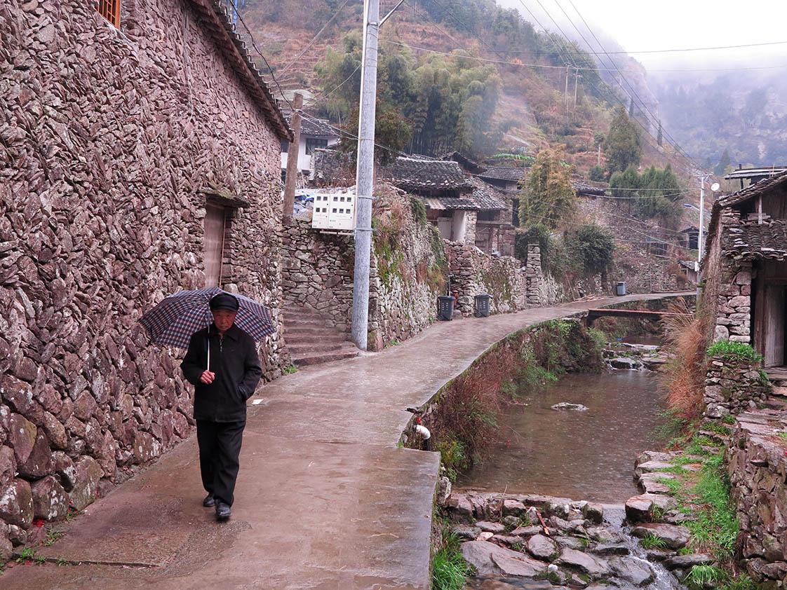 Clear stream water graces the ancient mountain village. (Jock Lauterer photo)