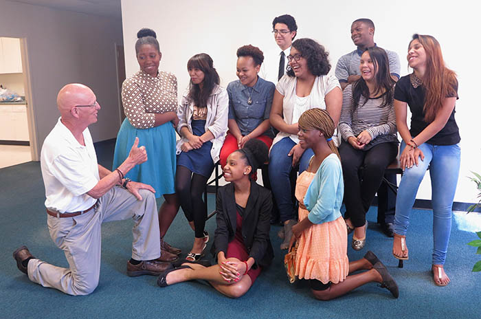 In which Mr. Joke gets to meet the new cohort from Partners for Youth in Durham. (Chen Kai photo)