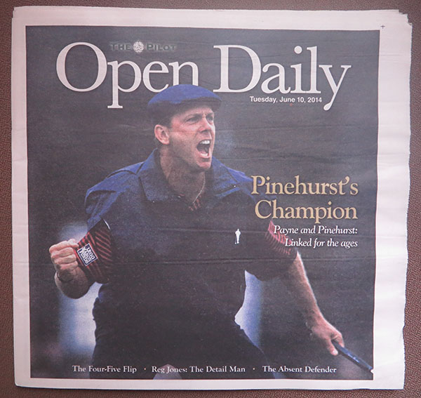 The handsome cover of one of the Open Daily editions. The Pilot staff cranked out 14 issues of the 64-page tabloid — in ADDITION to putting out their four-section broadsheet twice-weekly. Amazing work for a semi-weekly community newspaper, by anyone's standards. (Jock Lauterer photos)