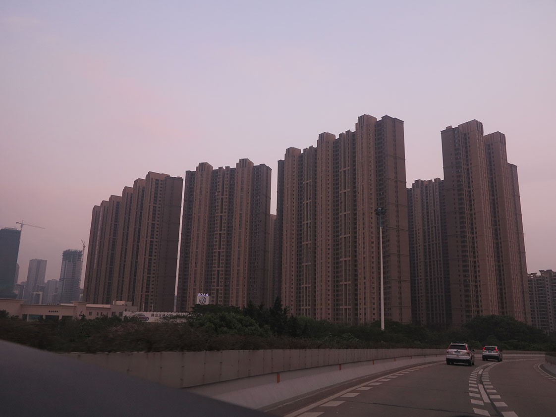 Most urban Chinese live in these high-rise apartment towers, a vast improvement from village life, but a great lose in the sense of place and community identity. (Jock Lauterer photo)
